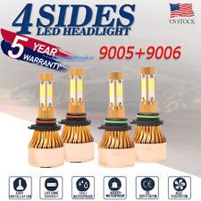 New listing 4-Side 9005 9006 Combo Led Headlight Kit High Low Beam Bulb 6000K 220W 44000Lm