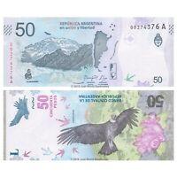 Argentina 50 Pesos 2018 P-363 Series A Banknotes UNC