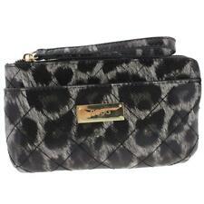 BCBG Womens Fairfax Gray Faux Leather Animal Print Wristlet Wallet O/S BHFO 2271