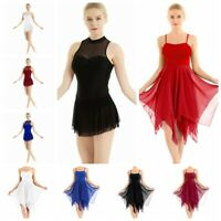 Women's Adult Dance Costumes Ballroom Skating Dress Ballet Contemporary Dress