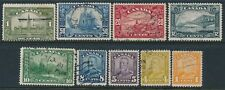 1928-29 CANADA PART SET OF 9 USED TO $1 SG275-SG285
