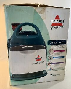 BISSELL LITTLE GREEN DELUXE SPOT & STAIN PORTABLE HOME CARPET CLEANER WITH BOX