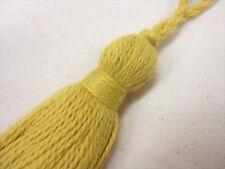 Amarillo Llave Borla Pequeño Recorte de Tela Pasamanería Costura Cojín 8cm + 4cm