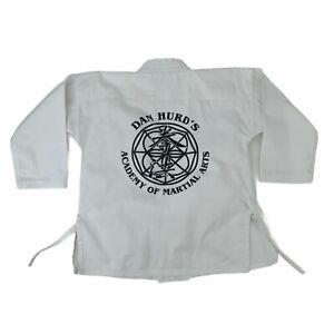 Dan Hurd's Academy of Martial Arts Gi Shirt Men's Size 1 White Karate Training