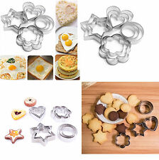 1set/12pcs ACCIAIO INOX CAKE COOKIE UOVO Stampo Fondente Stampo Sugarcraft Cutter