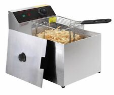 2500W Deep Fryer Electric Commercial Tabletop Restaurant Frying w/ Basket Scoop