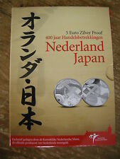 5 EURO NEDERLAND - JAPAN 400 JAAR PROOF IN KNM BLISTER
