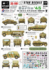 "Star Decals 1/35 Berlin ""The End of SS-Nordland"" 11. Freiwillige Nordland"