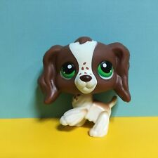 Littlest Pet Shop LPS Toys #156 Brown &White Spaniel Cocker Dog Figure