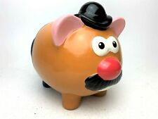 Vintage Ceramic Mr.Potato Head Piggy Bank With Rubber Stopper