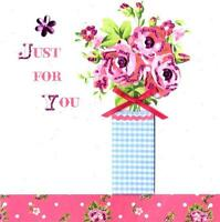 Just For You Pretty Greeting Card Everything Rosie Cards Blank Inside