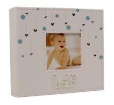 "Baby Boy Hearts and Stars Photo Album Gift 80 x 6"" x 4"" 77920"