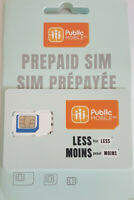 New Public Mobile Regular Micro Nano 3in1 Prepaid Sim Card 4G LTE Canada Travel