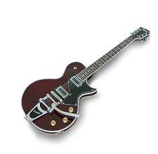 Fernandes Burny LS Vintage Electric Guitar w/Bigsby Wine Red