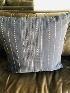 Woven Textured Sofa Throw Pillow Threshold Studio McGee 24 X 24 Blue Target