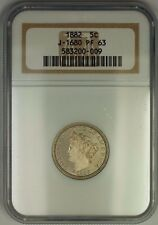 1882 Liberty V Nickel Pattern Proof 5c NGC PF-63 *Better Coin* J-1680 Judd WW