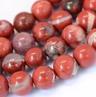 Imperial Jaspis Perlen Rot 8mm Kugel Strang Edelsteine Natursteine G56