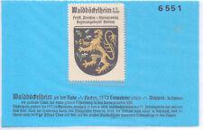 Reklamemarke Wappen von Waldböckelheim Rheinland-Pfalz um 1925 (B922)