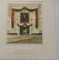 1987 White House Presidential Large Christmas Card Reagan w/ Folio & Envelope