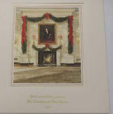 1987 White House Presidential Large Christmas Card Reagan w/ Folio & Envelope