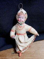 Vintage 1950's Cotton Lady Ornament - Ussr