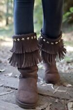 Jimmy Choo Ugg brown shearling stud sora boots 8 New $695