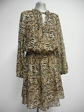 "Gorgeous dress by Ralph Lauren lightweight animal print & slip M 8 33"" W UK14/16"