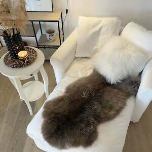 Lambskin Camel Merino Sheepskin Washable Real Fur Deco Runner Seat Pad