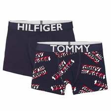 Tommy Hilfiger Boys 2 Pack Boxer Trunk, Navy / Navy Logo Print