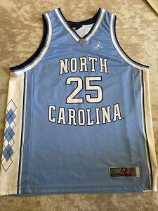 UNC North Carolina Basketball Jersey Nike Elite # 25 Jumpman Jordan Tar Heels XL