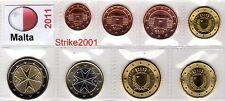 Euro MALTA 2011 - 8 PZ FDC in Blister -