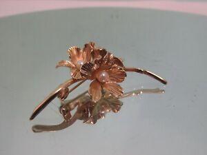 Vintage Grosse ( Dior)  1965  Goldtone /Faux Pearl Floral Brooch