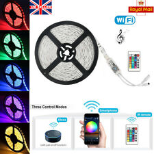 5M 5050 RGB 300 LED Strip Home light Kit Wifi APP Alexa IR Remote Music Control