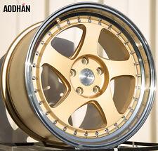 AODHAN AH01 18x9.5 5x114.3 +35 Gold (PAIR) wheels