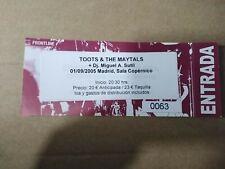 Toots & The Maytals 1 von / Aus September 2005 Madrid - Eingang Ticket