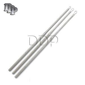 3 Pcs Ear Pick Wax Curette Remover Cleaner Small+Medium+Large Ear Loops ENT Tool