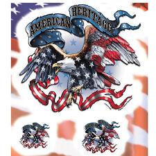 Biker Chopper USA Eagle Adler American Heritage Aufkleber Sticker Decal 3 Stück