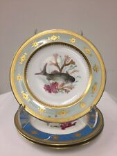 Three Hand Painted Minton Porcelain Fish Plates