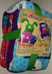 "Ugly Dolls Plush Blanket Super Soft 62"" x 90' 100% Polyester UglyDolls NWT"