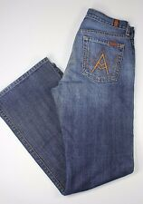 7 Seven For All Mankind Demim Jeans Size 28x31 Flare Leg USA A Pocket Button Fly