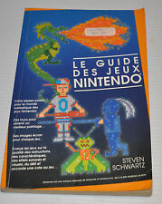 - LE GUIDE DES JEUX VIDEO NINTENDO NES Video Game French Book 1990 -
