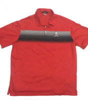 Tiger Woods Golf Shirt NIKE Collection Mens Red Striped Polo Shirt SZ 2XL