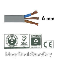 6 mm Twin and Earth T&E Electric Cable Wire | Domestic High Power Cooker Shower