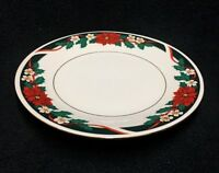 "Tienshan Deck The Halls 7 1/2"" Salad Plates, 1 1/2"" Verge, Set of 4"