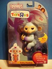 Fingerlings Ava Baby Monkey Purple Blue Only at Toys R Us Wow Wee Group New