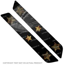 Saddlebag Reflector Decals For 14 Up  Harley - GOLD SHERIFF BADGE - 087