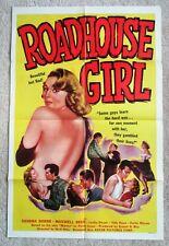 ROADHOUSE GIRL ORIGINAL 1953 1SHT MOVIE POSTER FLD SANRA DORNE EX