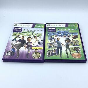 Kinect Sports 1 + 2 season two - Lot 2 (Microsoft Xbox 360 Kinect) complete CIB