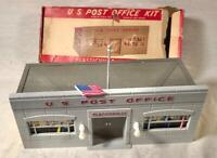 VINTAGE PLASTICVILLE U. S. POST OFFICE KIT O SCALE MODEL RAILROADING