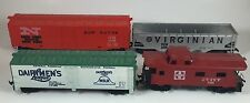 Lot of 4 TYCO HO trains Virginian 2610 New Haven 35688 Dairymen's League ATSF